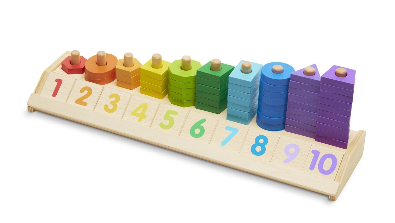 FREE Melissa /& Doug Scratch Art Mini-Pad Bundle Counting Shape Stacker 92753