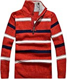 Product review for Tophaz Men's Stylish Slim Knitted High Zipped Cardigan Sweater Warm Pullover SW33