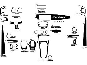Rdash Dash Kit Decal Trim for BMW Z4 2003-2008 - Carbon Fiber 3D (Black)
