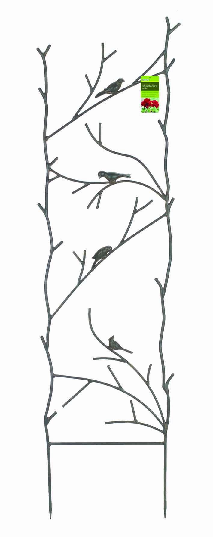 Gardman R542 Bird and Branch Metal Trellis, 14.68'' Wide x 51'' High