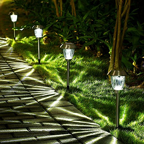 lumens bright solar lights outdoor garden solar pathway