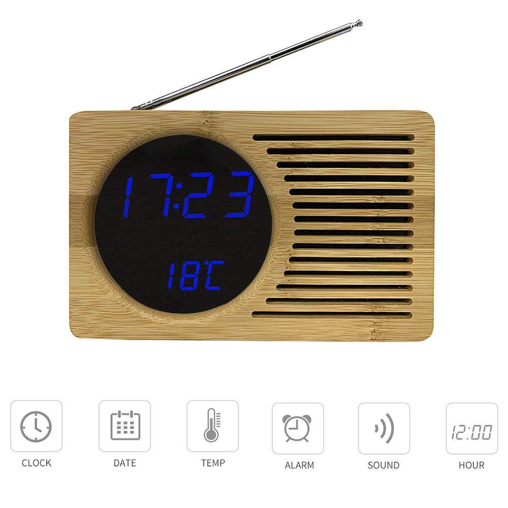 Tenlso Radio Despertador Digital Proyector, Radio Despertador FM ...
