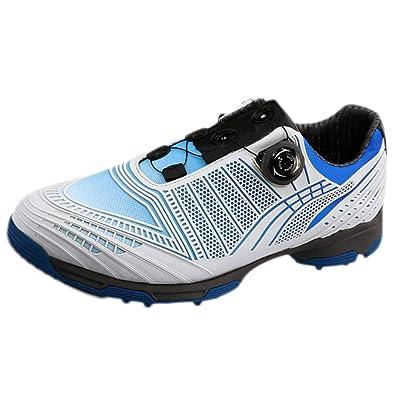 28e903b3c42cab Chaussures de Golf pour Hommes Baskets légères Anti-dérapantes Confort  Hybride Sneakers Boutons Chaussures Respirant