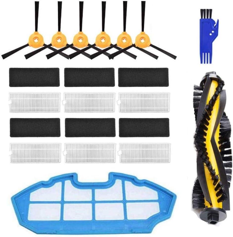 APLUSTECH Kit de 21 Accesorios y Recambios para Cecotec Conga Excellence 990 y Ecovacs Deebot N79 N79S- Cepillo Lateral, Cepillo Central, Filtro HEPA, Filtro Esponja.