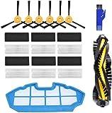 APLUSTECH Kit de 21 Accesorios y Recambios para Cecotec Conga Excellence 990 y Ecovacs Deebot N79 N79S- Cepillo Lateral…