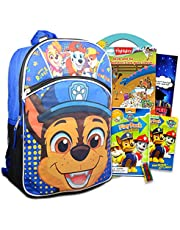 """Paw Patrol School Backpack For Kids, Boys ~ 4 Pc Bundle With 16"""" Paw Patrol School Bag, Paw Patrol Coloring Activity Pack, 200+ Highlights Stickers, And More (Paw Patrol School Supplies)"""