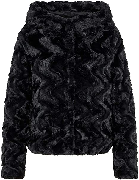 Vero Moda Vmcurl Hoody Faux Fur Short Jacket Boos Chaqueta para Mujer