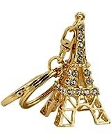 Rhinestone Eiffel Tower Key Chain