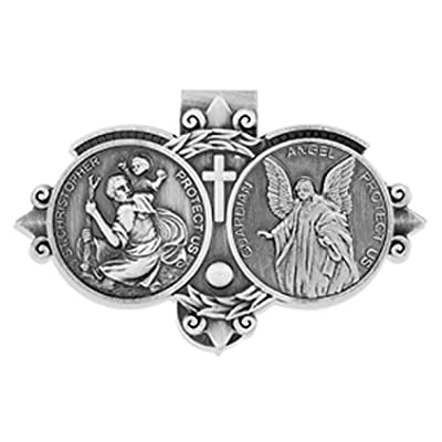Catholic Visor Clip for Protection While Driving   Beautiful and Traditional Design   Makes a Great Gift for Teens and New Drivers   More Than 10 Designs Available: Automotive