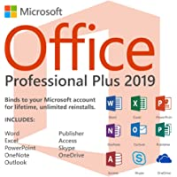 Microsoft Office 2019 Pro Plus 2019 (Digital Download) Only Product key & download link will be sent by email-No CD/DVD/USB