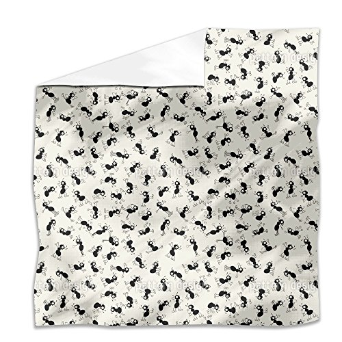 Ants Dance Flat Sheet: Queen Luxury Microfiber, Soft, Breathable by uneekee