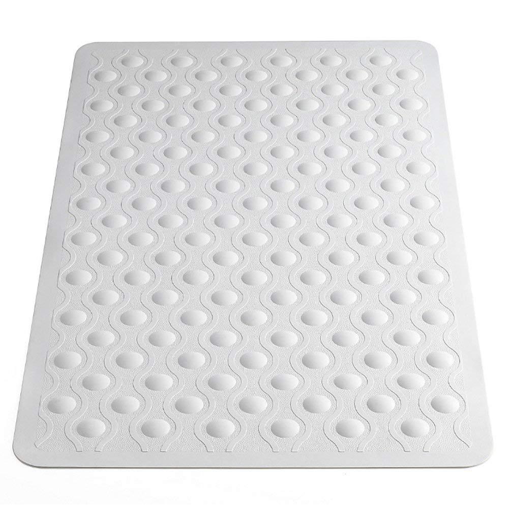 Off-White 70 x 40cm Aztex Anti-Fungal Non-Slip Rubber Bath Mat with Bubbles