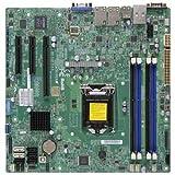 Super Micro Supermicro X10SLM-F-B LGA1150/ Intel C224 PCH/ DDR3/ SATA3&USB3.0/ V&2GbE/ MicroATX Server Motherboard (Super MicroX10SLM-F-B )