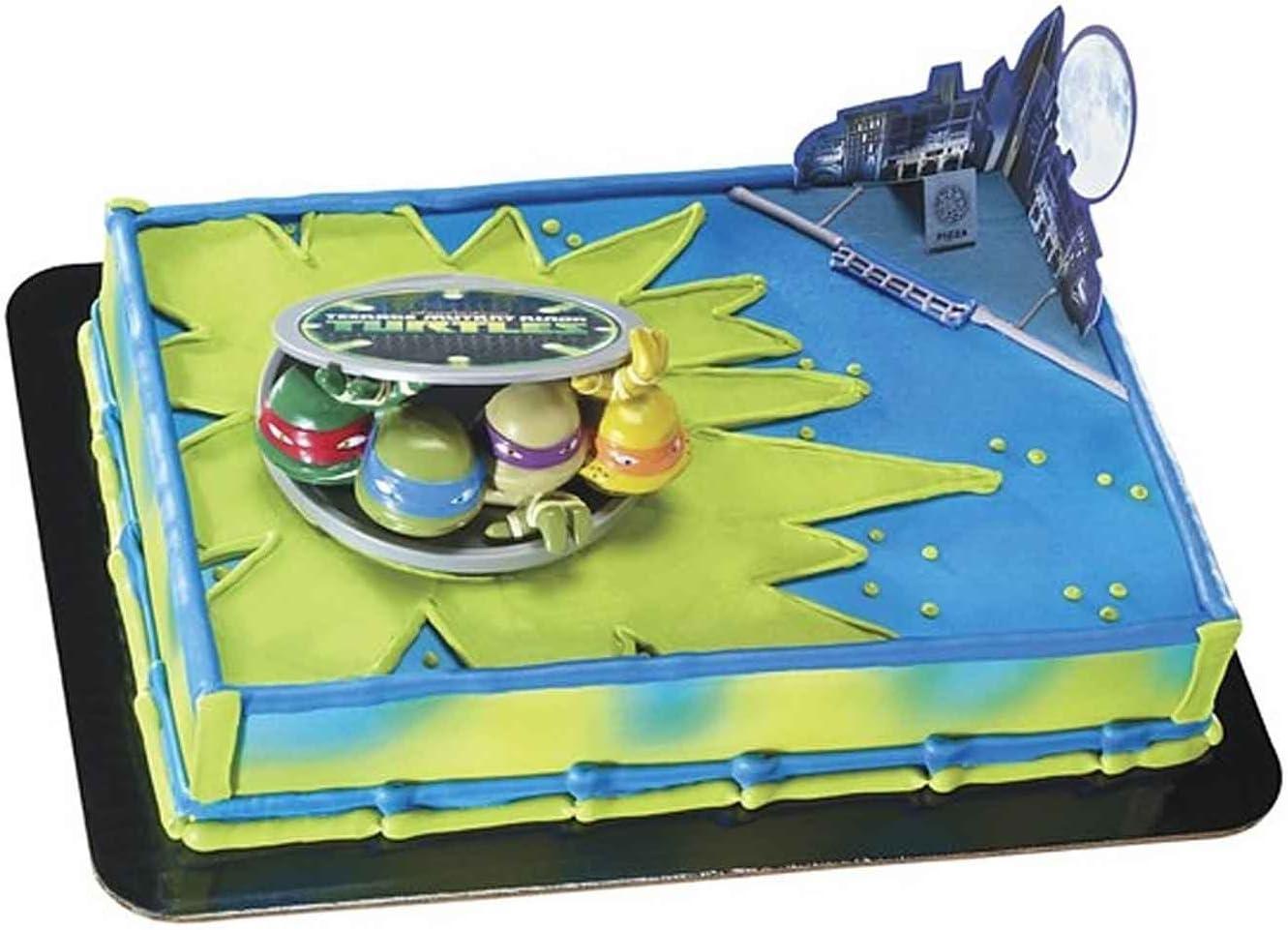 Fine Teenage Mutant Ninja Turtles Turtles To Action Decoset Cake Funny Birthday Cards Online Bapapcheapnameinfo