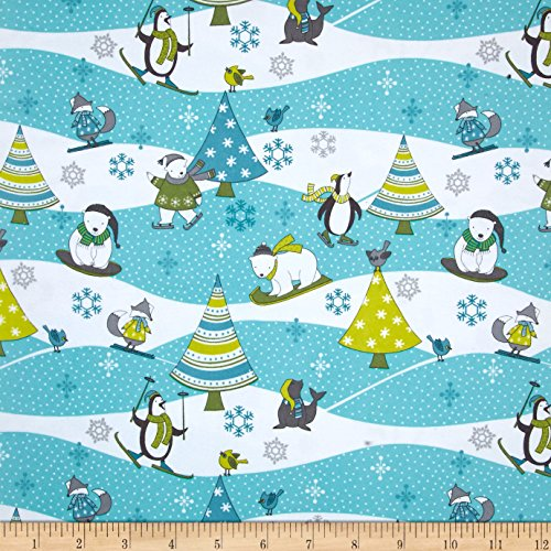 Wilmington Prints Debbie Mumm Arctic Antics Flannel Scenic Multi Fabric by The Yard
