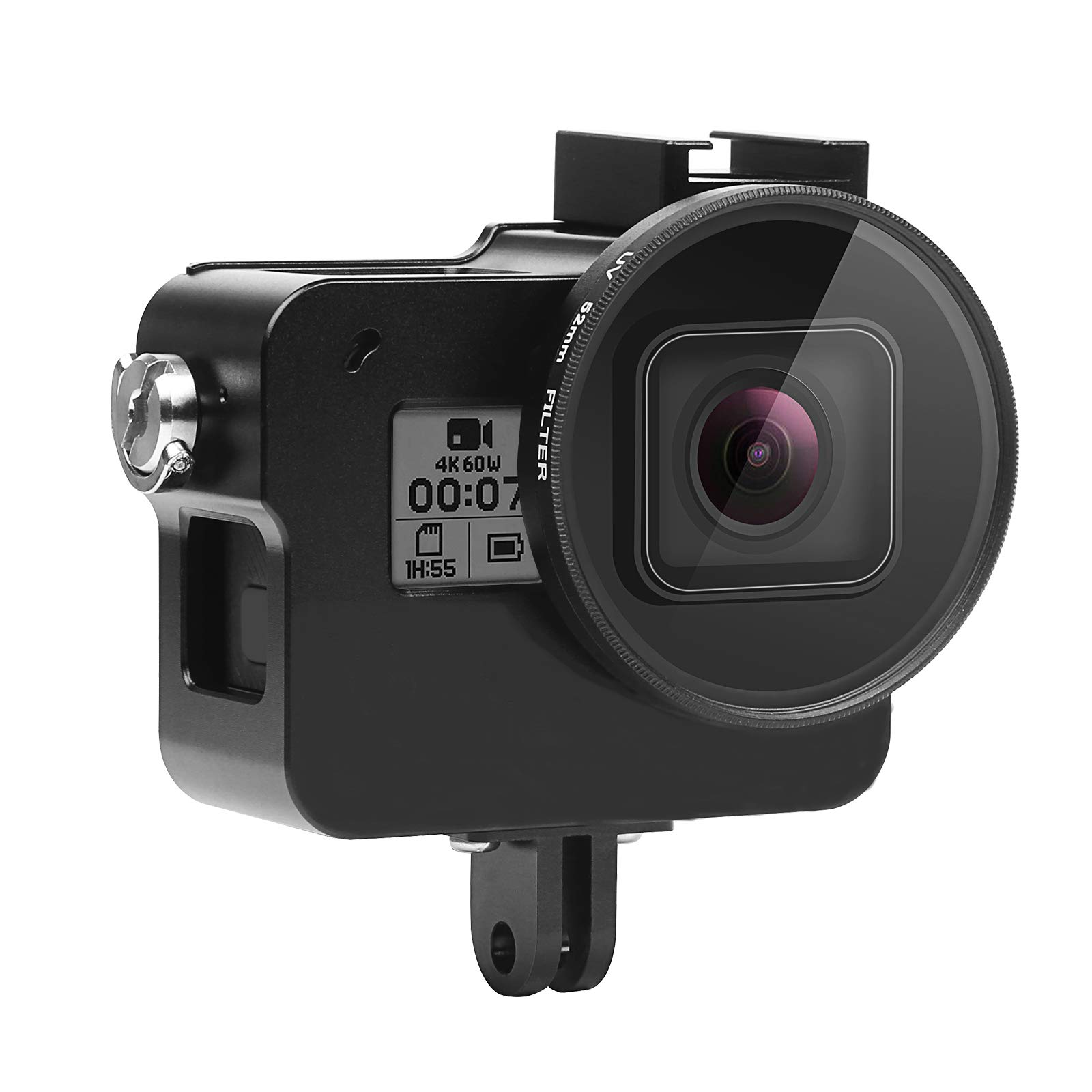 SHOOT Aluminium Metal Case Alloy Skeleton Protective Housing with 52mm UV Filter for GoPro Hero 7 Black Action Camera