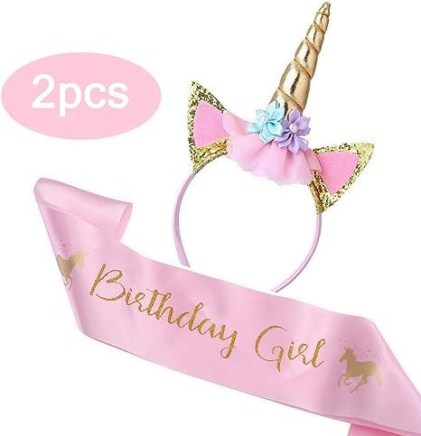 Amazon.com: Cooper Fun Unicornio Cumpleaños Set de Oro ...