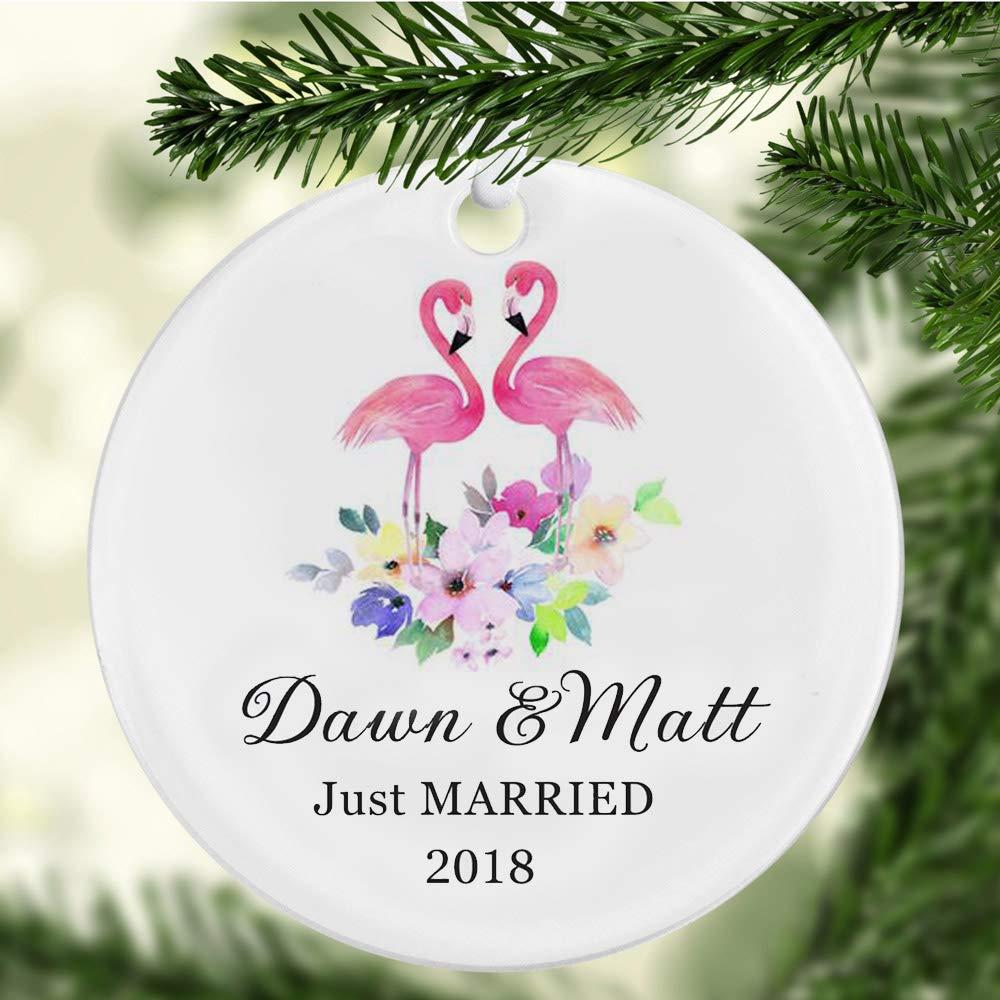 Amazon.com: Blake55Albert Our First Christmas Mr. and Mrs. Tree ...