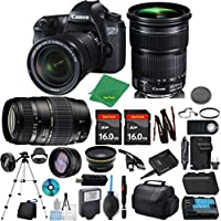 Canon EOS 6D Camera + 24-105mm STM + Tamron 70-300mm AF + 2pcs 16GB Memory + Case + Reader + Tripod + ZeeTech Starter Set + W/A + Telephoto + Flash + Battery + Charger + Filter