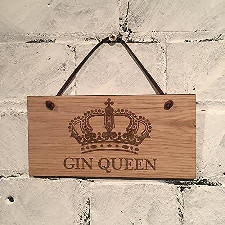 Cartel de madera con cita sobre alcohol en inglés - Placa de ...
