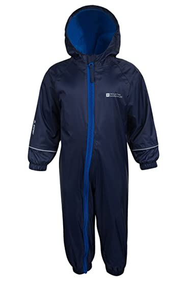 Mountain Warehouse Spright Bedruckter Regenanzug Atmungsaktiv, Gefüttert, Wasserfest, versiegelte Nähte Anzug, Fleecefutter Für Jungen und