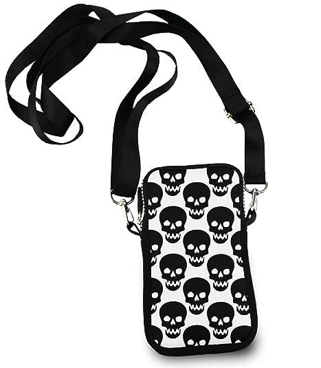 Amazon.com: Moda ligera niñas Crossbody – Skull Cat Moon ...