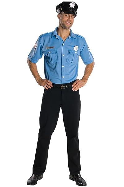 Amazon.com: Oficial de Policía Cop hombres Adult Costume ...