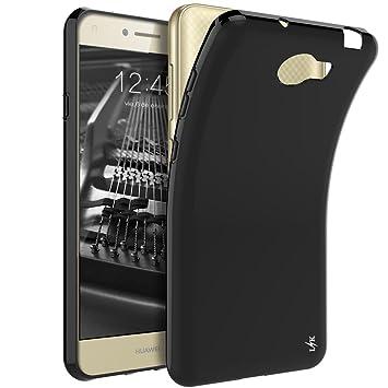 LK Huawei Y6 II Compact/Huawei Y5 II Funda, Carcasa Cubierta TPU Silicona Goma Suave Case Cover Ultra Fino Anti-Arañazos - Negro