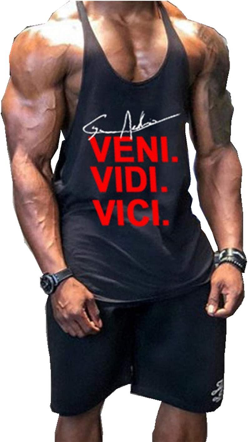 Befox Camiseta de Tirantes para Hombre de la Marca, Mangas, Camiseta Interior de Manga Corta, Camiseta de Fitness (más Colores)