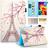 """T230nu Case, Tab 4 7.0 Case, Dteck(TM) Fashion Art Print Slim PU Leather Stand Case with Card Slots Magnetic Closure Protective Cover for Samsung Galaxy Tab 4 7.0"""" T230 /T231/ T235, Eiffel Tower"""