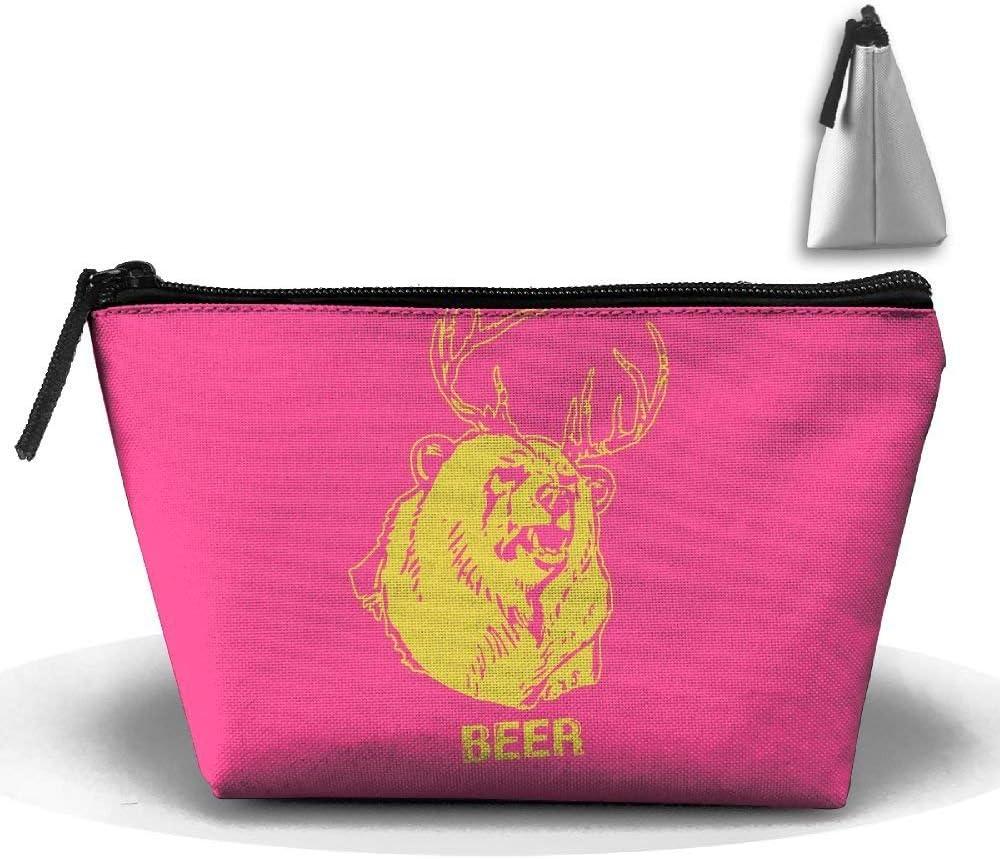Neceser de Maquillaje para Bolsa Trapezoidal Mac & iexcl; & Macr; s Neceser de Maquillaje Beer Bear + Bolsa de Maquillaje de Viaje: Amazon.es: Equipaje