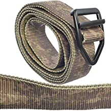 TacticShop Tactical Instructor Belt Heavy Duty Military Style Strong Double Layer of Nylon Webbing & Aircraft Aluminum V-ring Buckle