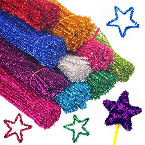 (BigOtters Pipe Cleaners, 200PCS Multicolor Chenille Stems for DIY Art, 6 mm x)