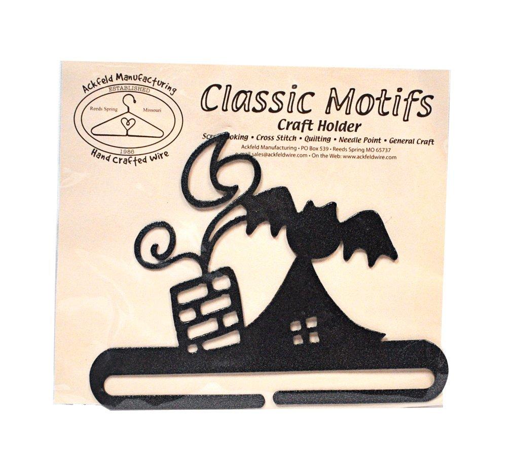 Classic Motifs Rooftop 6 Inch Charcoal Split Bottom Craft Holder Ackfeld Manufacturing