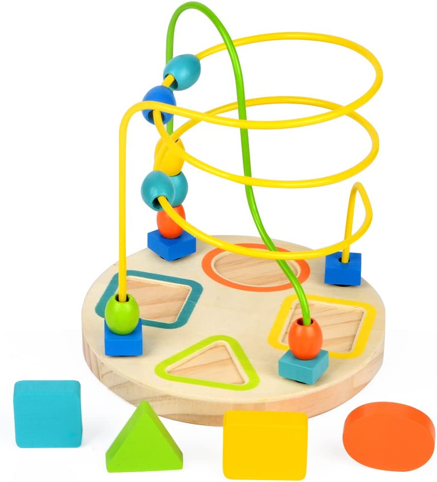 GEDIAO Bead Maze Educational Toy  Wooden Play Activity Cube Learning Toys for...