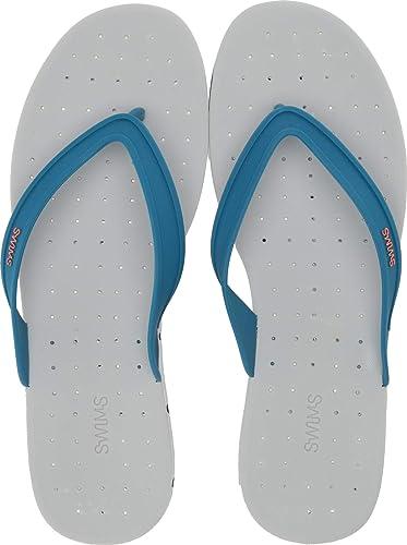 35eca37cc2e SWIMS Men s Breeze Thong Sandal Seaport Blue Alloy 7 ...