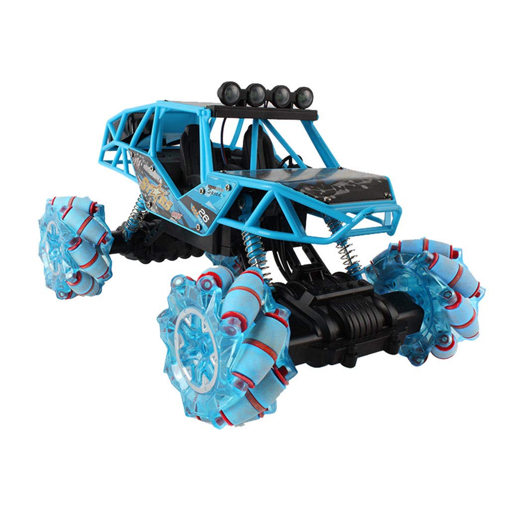 Elaco Remote Control Trucks Monster RC Car Four-Wheel Drive Drift Stunt Car, Drift Stunt Car Drive Off-Road Vehicle Truck Remote Control Car High Speed Racing All Terrain Climbing Car Gift for Boys by Elaco1