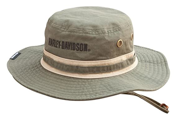 8c7948c081d064 Image Unavailable. Image not available for. Color: Harley-Davidson Men's  Embroidered Bar & Shield Boonie Cotton Twill Hat ...