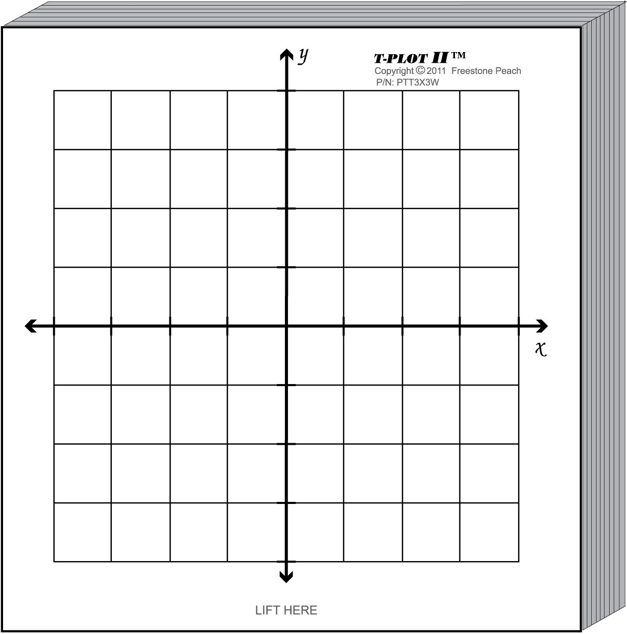 worksheet X Y Axis Graph Paper amazon com miniplot graph paper kit six xy axis coordinate grid designs printed on 3x3 post it notes pads mounted 8 5x11