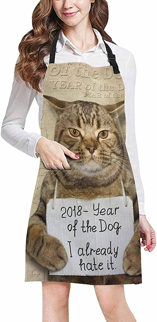 Love My Cat Apron  Great Fun for All Cat Lovers