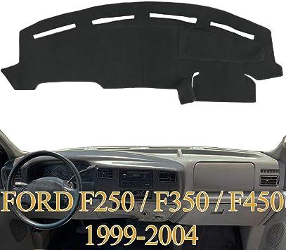 Amazon Com Yiz Dashboard Cover Dash Cover Mat Pad Carpet Custom Fit For Ford F250 F350 F450 Super Duty 1999 2000 2001 2002 2003 2004 Black Y72 Automotive