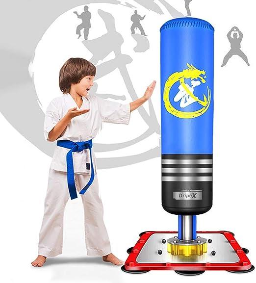 WDV Sac De Boxe Gonflable pour Adultes Et Enfants Sac De Frappe sur Pied pour La Pratique du Karat/é du Taekwondo