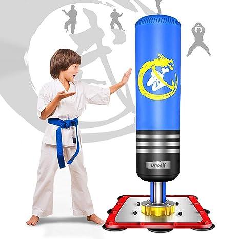 vente discount meilleur site Beau design Dripex Sac de Frappe sur Pied Adulte/Enfant Boxe Debout Libre Robuste  Punching Kick Appareil