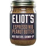 Eliot's Nut Butters Espresso Nib Peanut Butter, Non-GMO, Gluten Free, Vegan, Keto and Paleo Friendly, 12 Ounce, 72 grams of Protein
