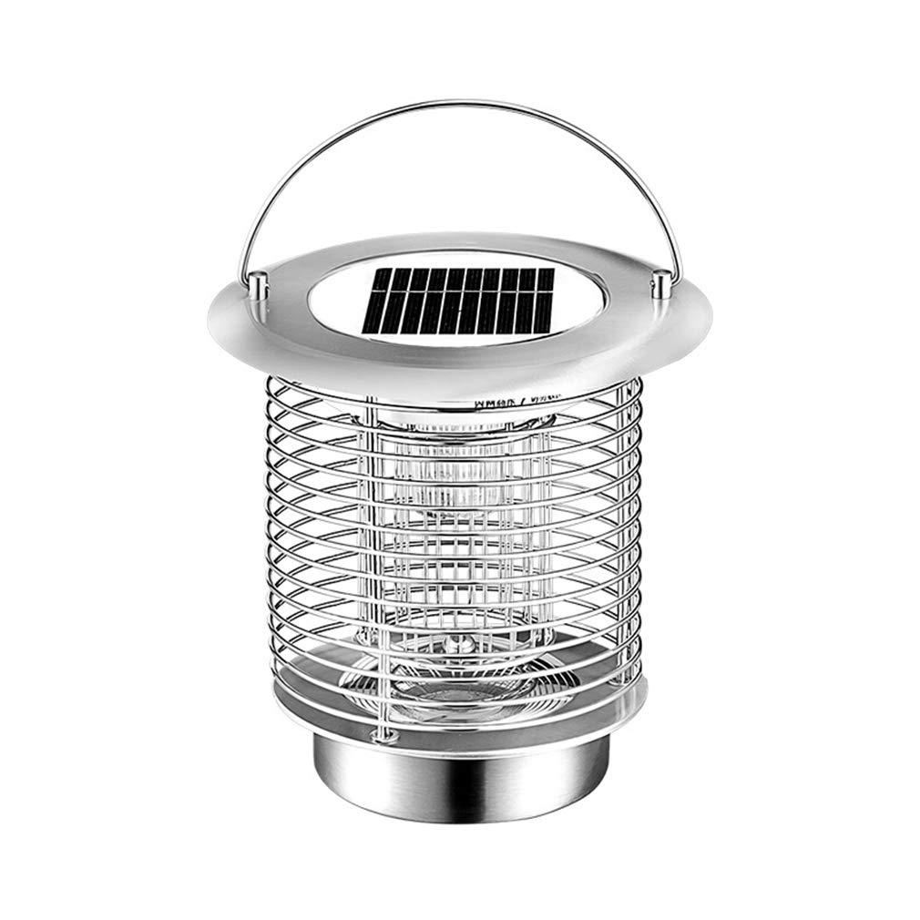ALUP- ソーラーモスキートキラー家庭用屋外ガーデンガーデン防水蚊忌避剤蚊忌避ランプ B07S9C5SGH Silver Standard