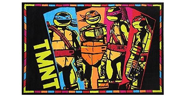 FUN RUGS - Alfombra (48 x 74 cm), diseño de Las Tortugas ...