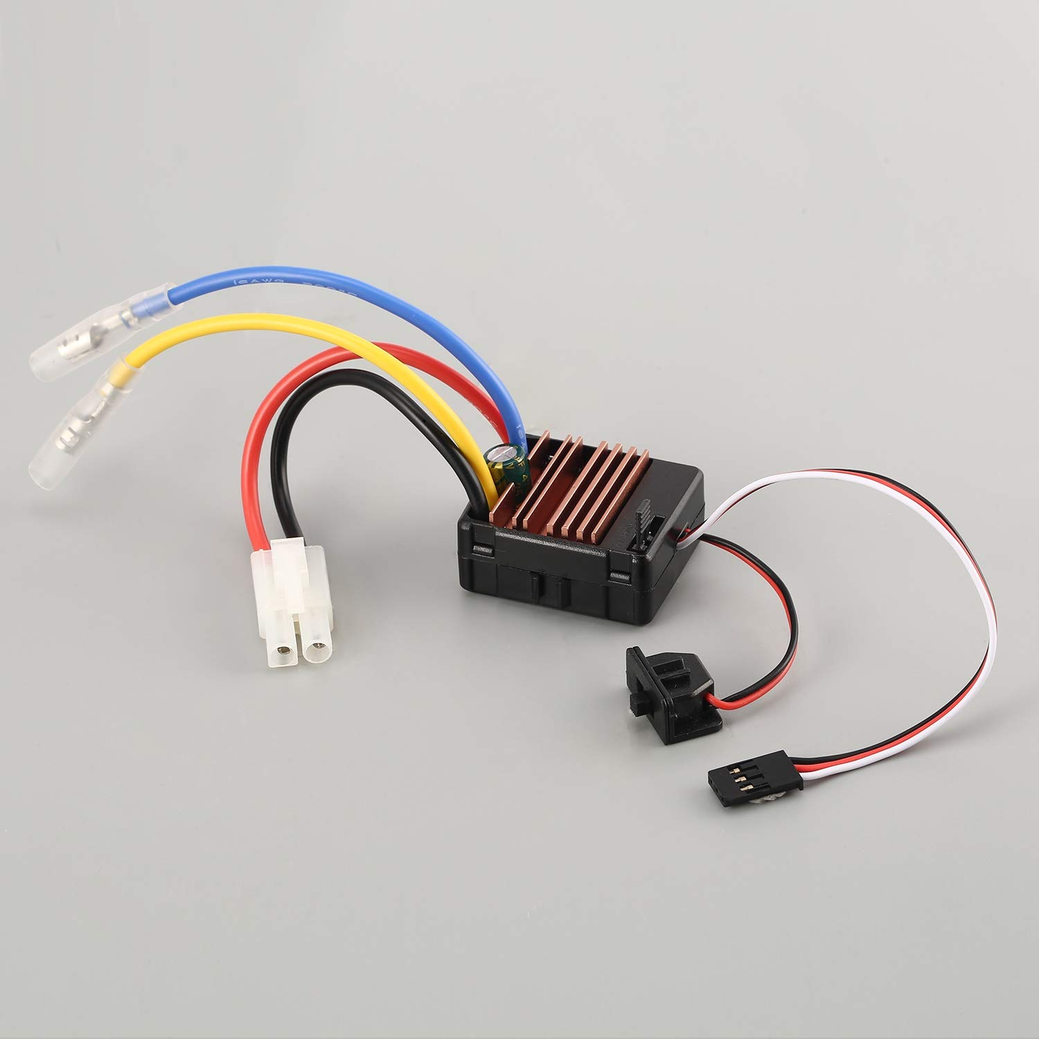 Amazon.com: 540 80T Brushed Motor 60A ESC for Axial SCX10 RC4WD D90 1/10 RC  Crawler Car Black: Toys & Games