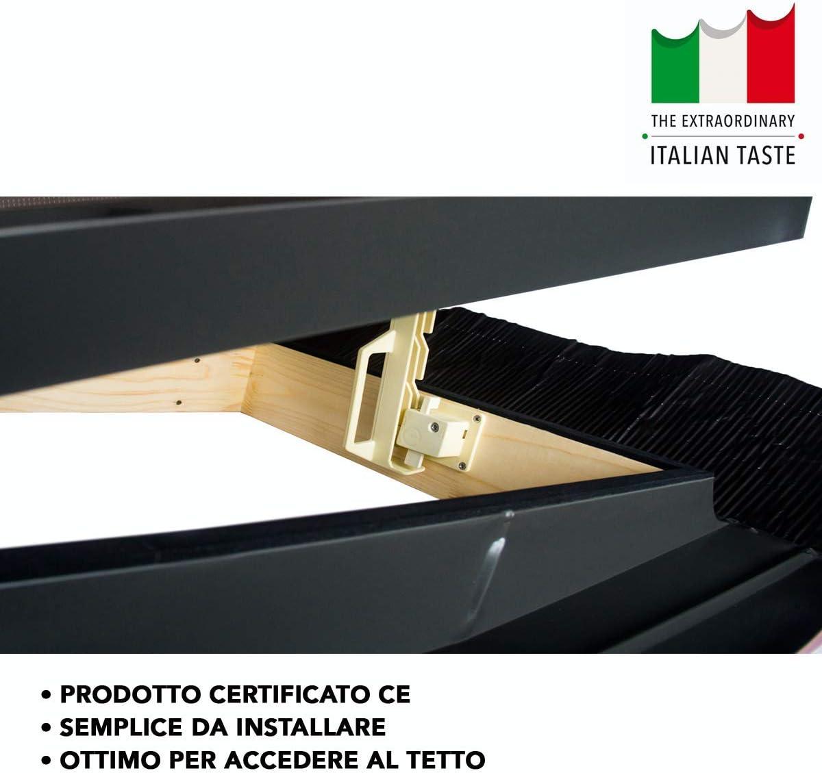 Linea Best 45x55 Base x Altezza Lucernario//Finestra da tetto Emica apertura vasistas in alluminio