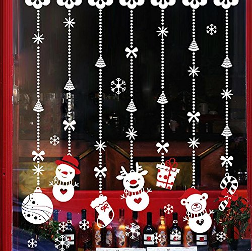 Snowman Icicle Ornament - TOTOMO #W309 Snowman Ornament Christmas Window Decals Sticker Decor Clings Wall Decoration