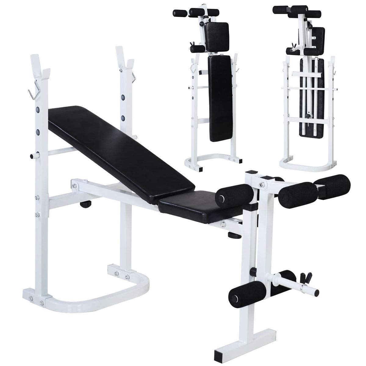 Cirocco Folding Weight Bench Press Incline Lift Leg Extension Workout Training | Heavy Duty Durable Upper Lower Body Exercise Ergonomic Comfortable Foldable Space Saving | for Home Gym Muscle Mass by Cirocco